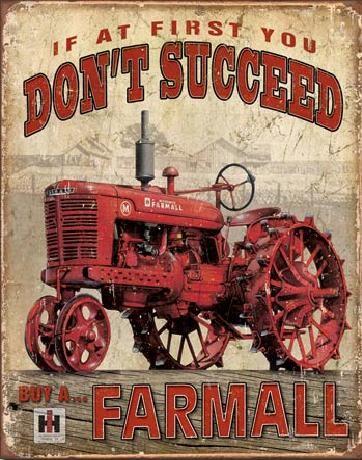 Cartelli Pubblicitari in Metallo FARMALL - Succeed