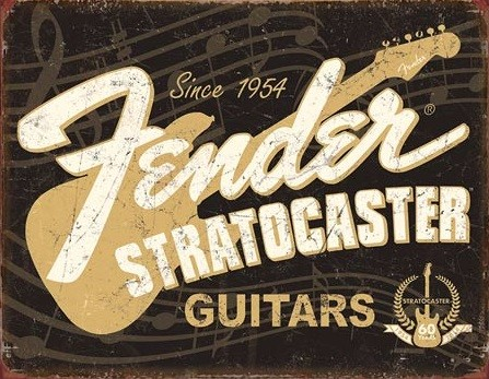 Cartelli Pubblicitari in Metallo  Fender - Stratocaster 60th