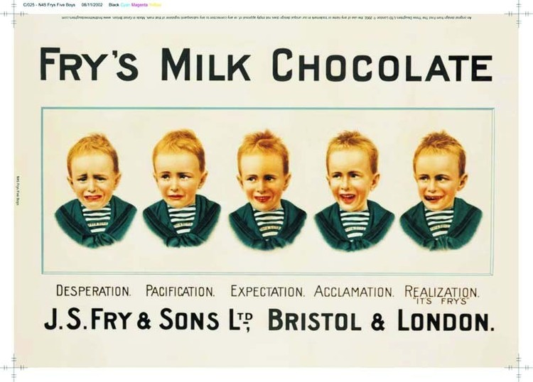 Cartelli Pubblicitari in Metallo Fry's 5 boys