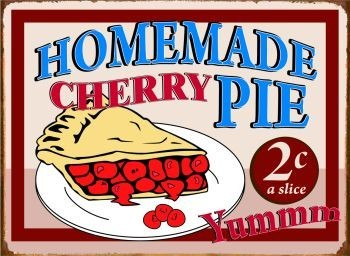Cartelli Pubblicitari in Metallo HOMEMADE CHERRY PIE