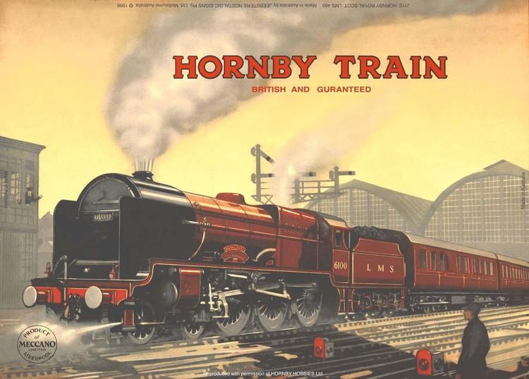 Cartelli Pubblicitari in Metallo HORNBY ROYAL SCOT