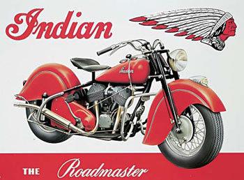 Cartelli Pubblicitari in Metallo INDIAN ROADMASTER