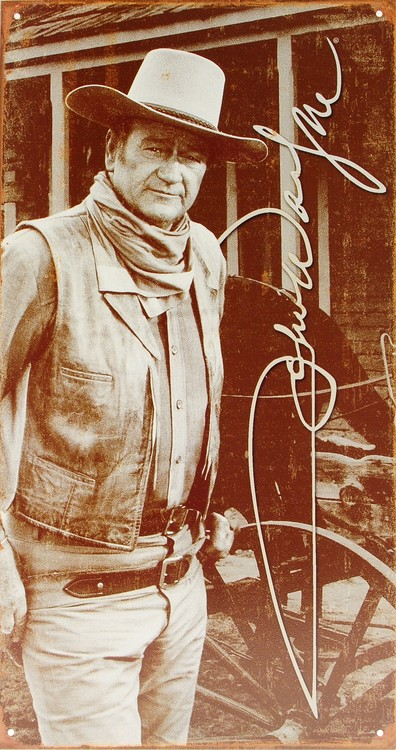 Cartelli Pubblicitari in Metallo JOHN WAYNE