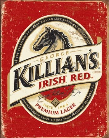 Cartelli Pubblicitari in Metallo Killian's Beer Logo