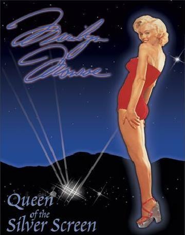 Cartelli Pubblicitari in Metallo MARILYN MONROE - Queen of Screen