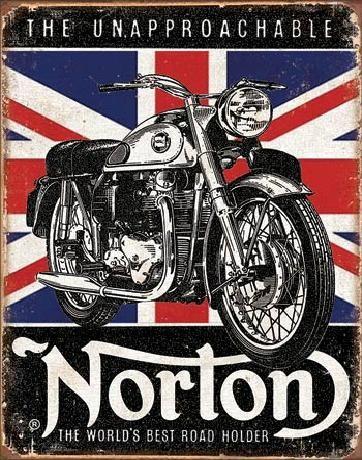 Cartelli Pubblicitari in Metallo NORTON - Best Roadholder