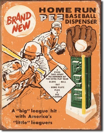 Cartelli Pubblicitari in Metallo PEZ - baseball