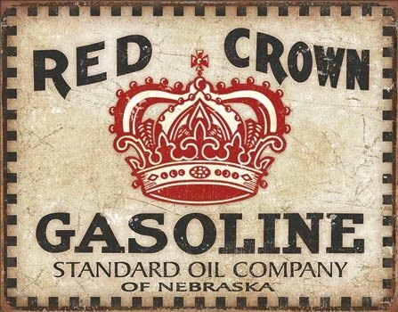Cartelli Pubblicitari in Metallo Red Crown - Checker