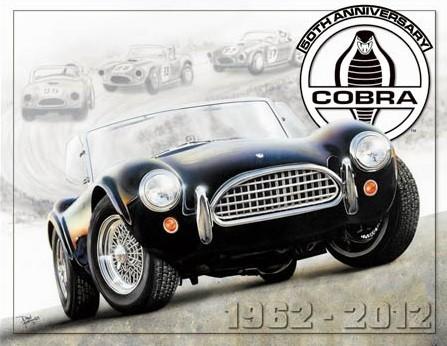 Cartelli Pubblicitari in Metallo Shelby Cobra 50th
