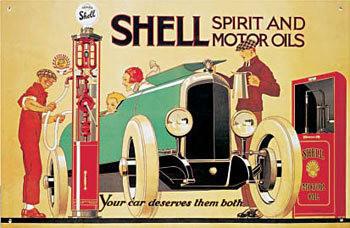 Cartelli Pubblicitari in Metallo SHELL PUMP