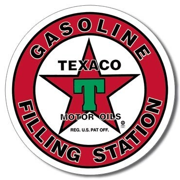 Cartelli Pubblicitari in Metallo TEXACO - filling station