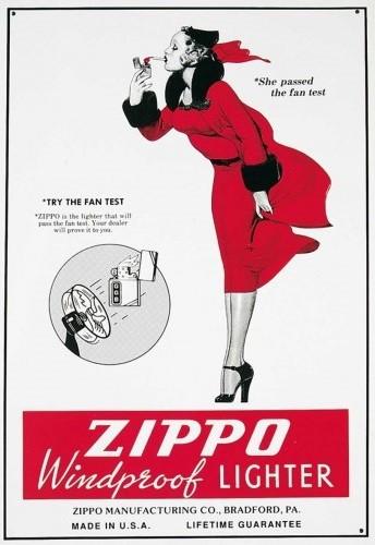 Cartelli Pubblicitari in Metallo ZIPPO
