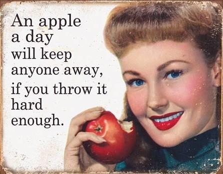 Cartello in metallo Ephemera - Apple a Day