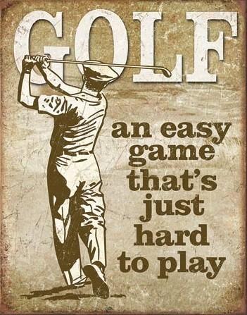 Cartello in metallo Golf - Easy Game