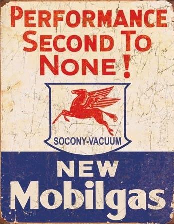 Cartello in metallo Mobil Gas - 2nd to None