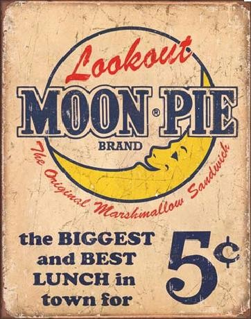 Cartello in metallo MOON PIE - Best lunch
