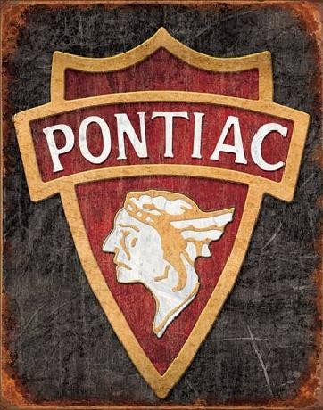 Cartello in metallo PONTIAC - 1930 logo