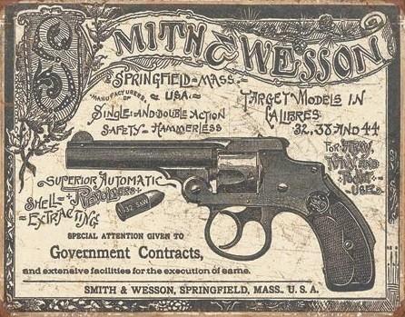 Cartello in metallo S&W - 1892 Gov. Contracts