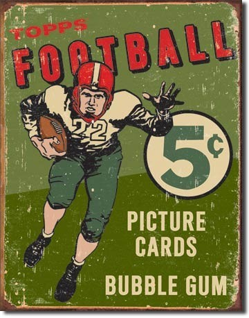 Cartello in metallo TOPPS 1956 FOOTBALL