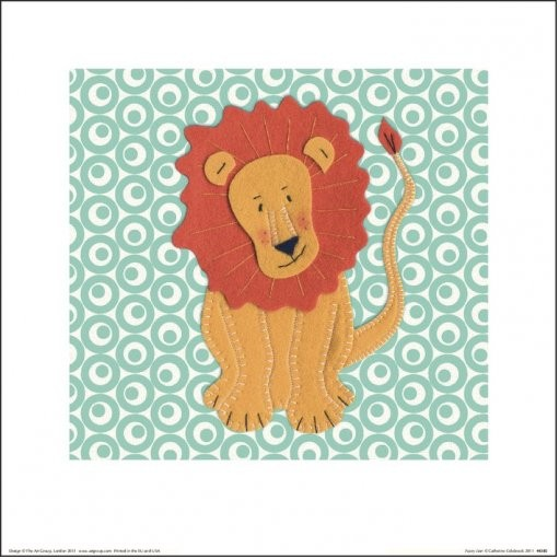 Catherine Colebrook - Fuzzy Lion kép reprodukció