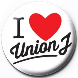 Chapitas UNION J - i love