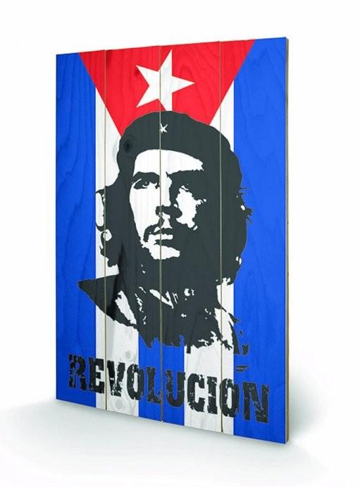 Bild auf Holz CHE GUEVARA - flag
