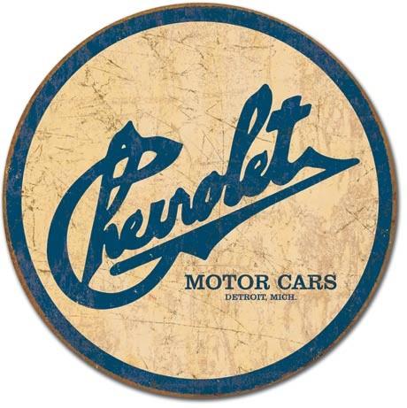CHEVY - Chevrolet Historic Logo Metalplanche