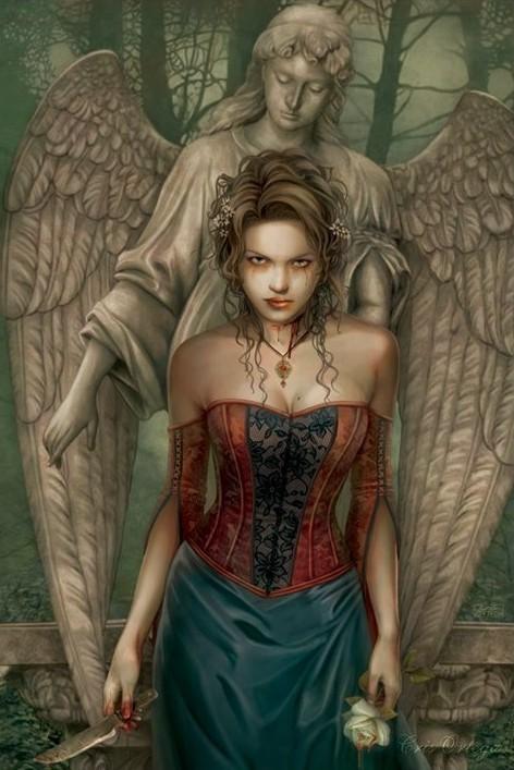 Chris Ortega - blood angel - плакат (poster)