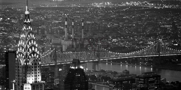 Chrysler Building and Queensboro Bridge  Festmény reprodukció