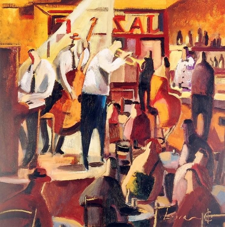 Cita con el Jazz Festmény reprodukció