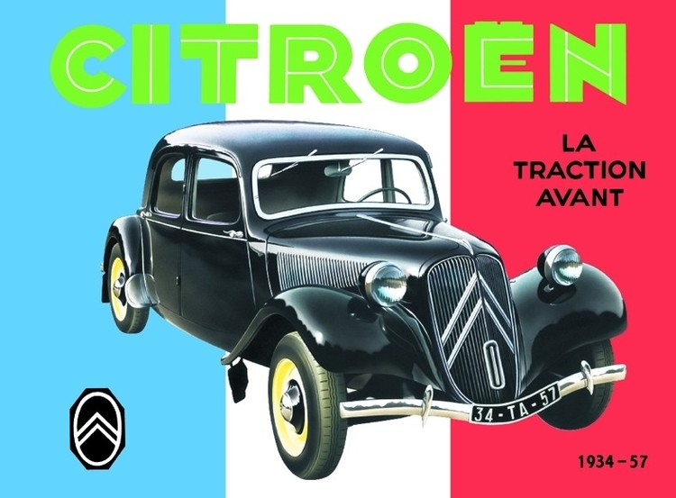 CITROËN TRACTION AVANT Metalen Wandplaat