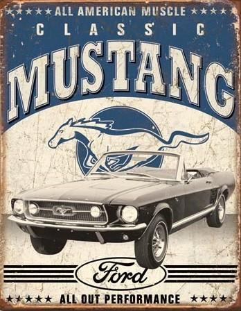 Classic Mustang Metalen Wandplaat