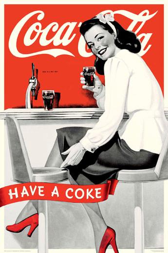 Coca Cola - have a coke - плакат (poster)