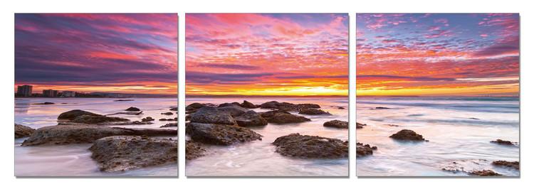 Colored sky over the sea Tableau Multi-Toiles