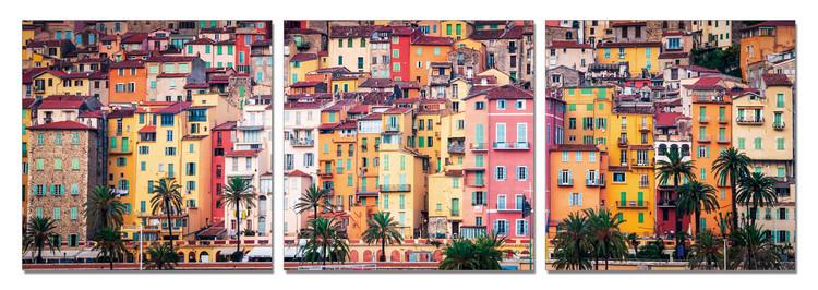 Colorful city Tableau Multi-Toiles