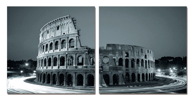 Colosseum - Amphitheatre at Twilight Modern tavla