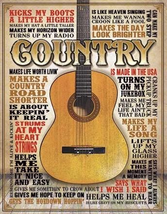 Country - Made in America Metalen Wandplaat