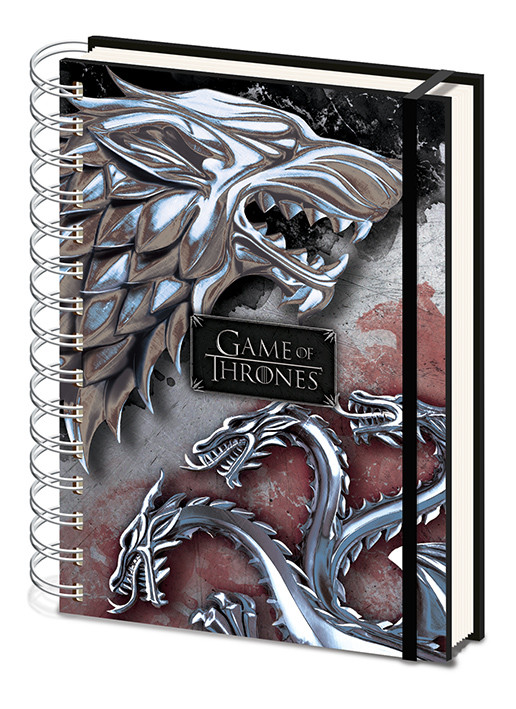 Game Of Thrones - Stark & Targaryen Cuaderno