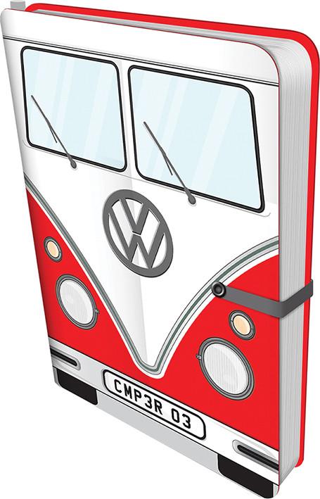 Volkswagen - Red Camper Cuaderno