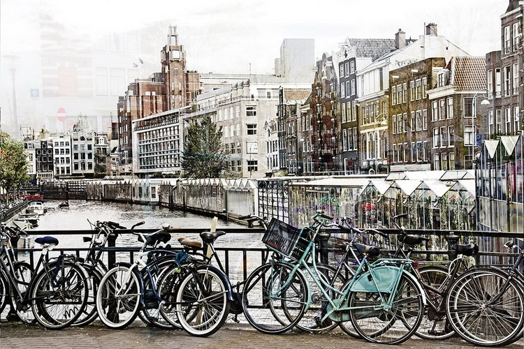 Cuadro en vidrio Amsterdam