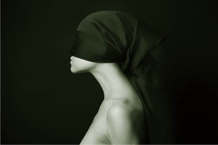 Cuadro en vidrio Art Woman - Silhouette &W
