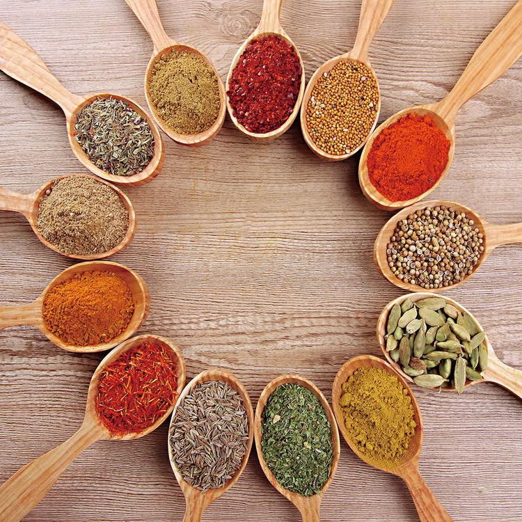 Cuadro en vidrio Spoons with Spices
