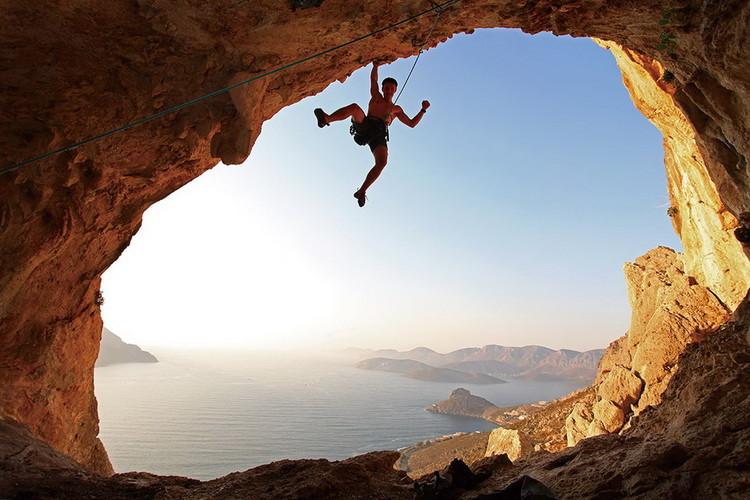 Cuadro en vidrio Strenght and Bravery - Rocks