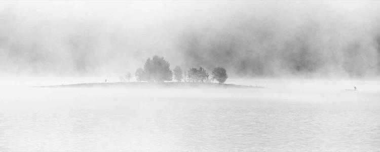 Cuadro en vidrio  White Lake