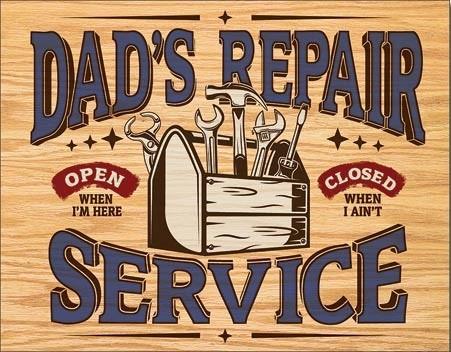 Dad's Repair Service Metalen Wandplaat
