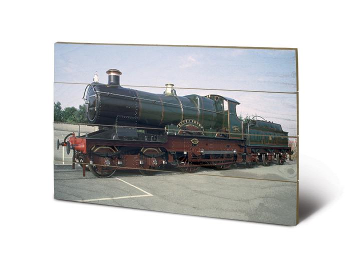bild auf holz dampflokomotive city of truro bei europosters. Black Bedroom Furniture Sets. Home Design Ideas