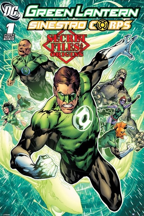 DC COMICS - green latern - плакат (poster)