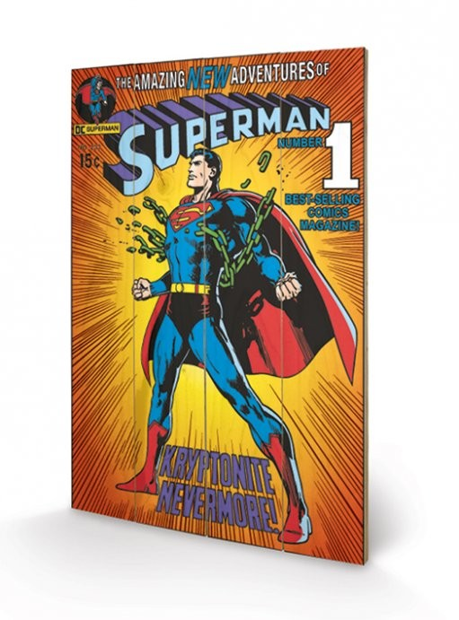 DC COMICS - superman / krypt. plakát fatáblán