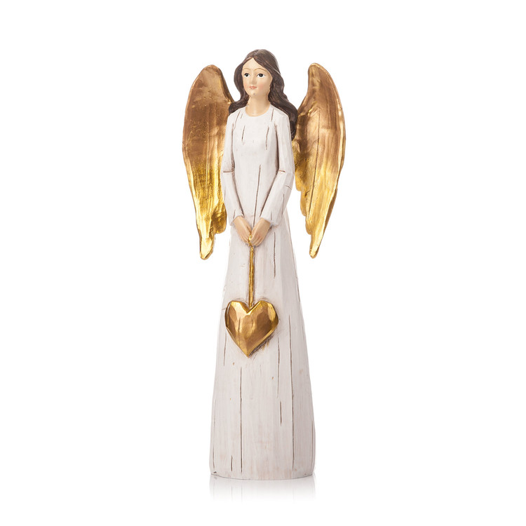 Angel Gold with Long Wings, 27 cm Decoración de casa