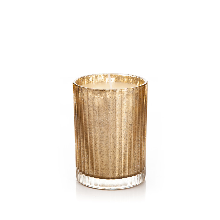 Candle in Glass Metal - Vanilla, Gold 9 cm Decoración de casa